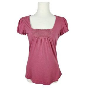 4/$30 RW&CO Pink Short Puff Sleeve T-Shirt